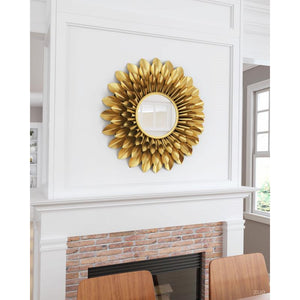 Sunflower Round Mirror Gold
