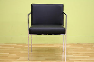 Atalo Black Leather Chair