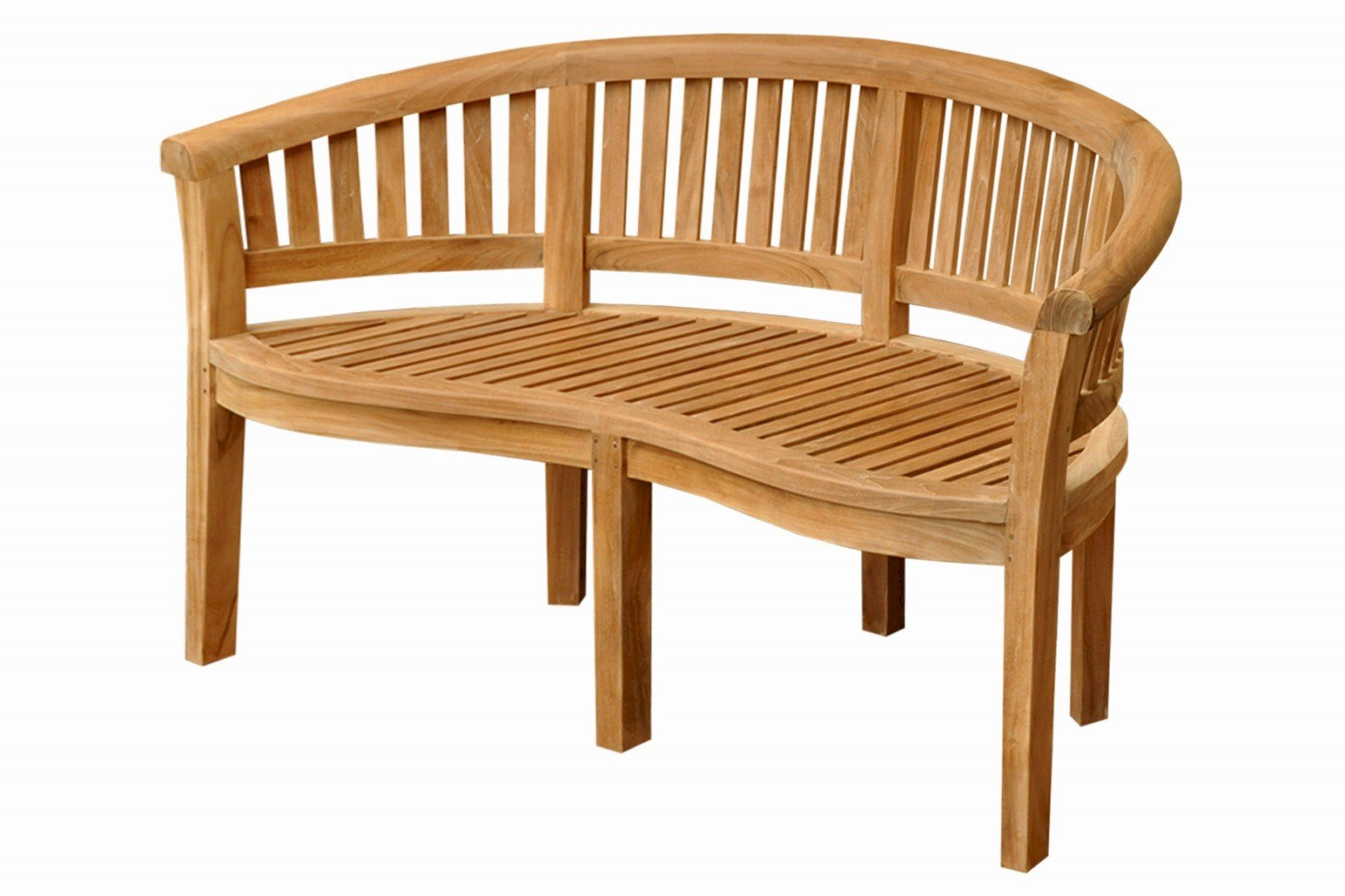 Curve 3 Seater Bench Extra Thick Wood