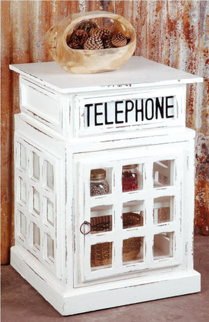 Sunset Trading Cottage English Phone Booth End Table