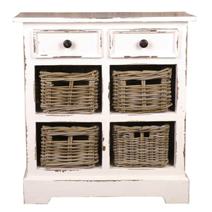 Sunset Trading Cottage Storage Cabinet with Baskets