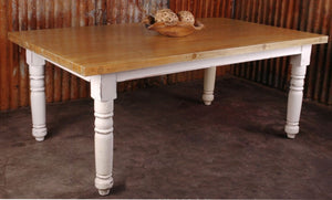 Sunset Trading Cottage Whitewashed Dining Table