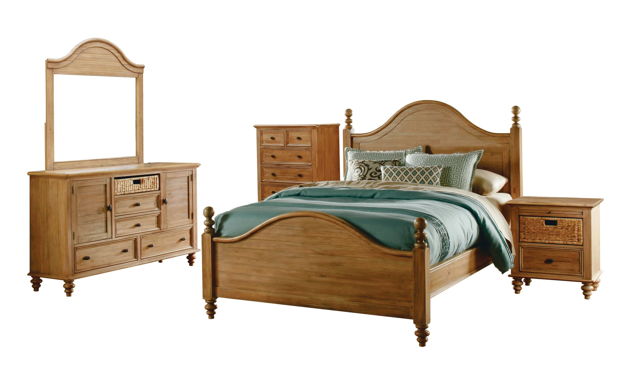 Sunset Trading Vintage Casual 5 Piece King Bedroom Set by Sunset Trading - HomeKingz.com - Online furniture shop with the best prices & premium customer support!