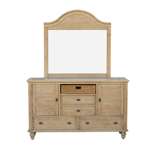 Sunset Trading Vintage Casual Dresser with Mirror