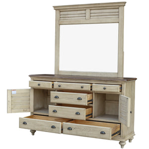 Sunset Trading Shades of Sand Dresser with Shutter Mirror