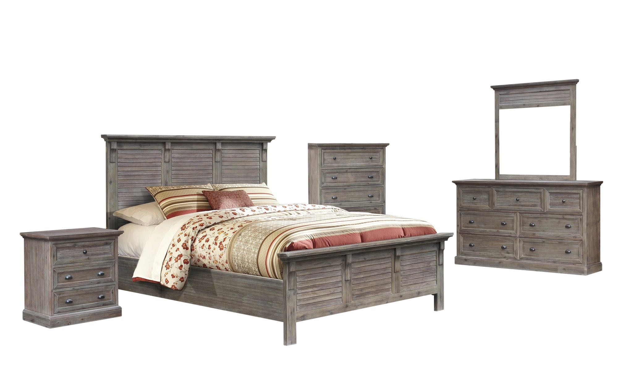 Sunset Trading Solstice Grey 5 Piece Queen Bedroom Set by Sunset Trading - HomeKingz.com - Online furniture shop with the best prices & premium customer support!