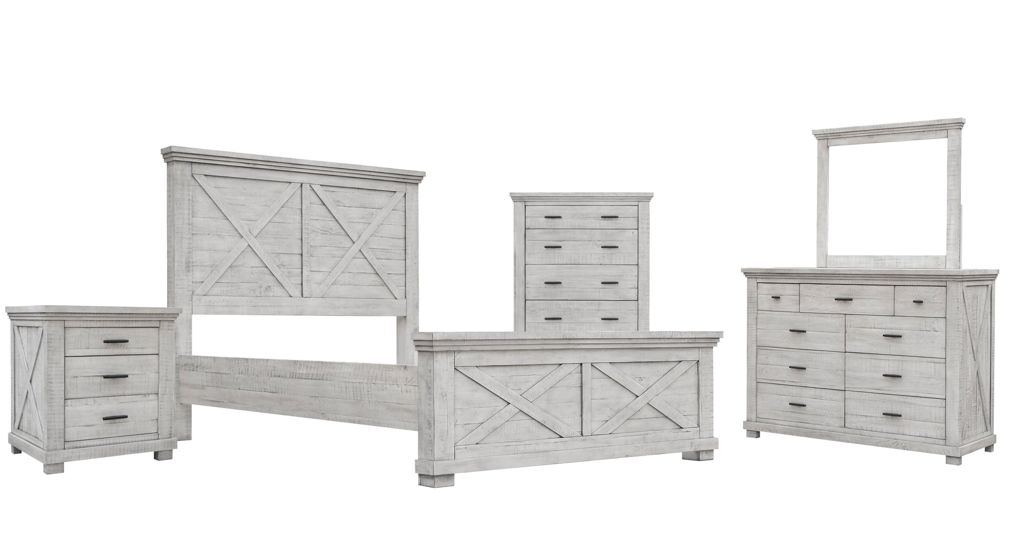 Sunset Trading Crossing Barn King 5 Piece Bedroom Set by Sunset Trading - HomeKingz.com - Online furniture shop with the best prices & premium customer support!