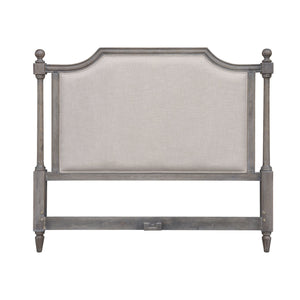 Sunset Trading Fawn Gray Queen Upholstered Panel Bed