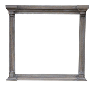 Sunset Trading Fawn Gray Wood Framed Beveled Mirror