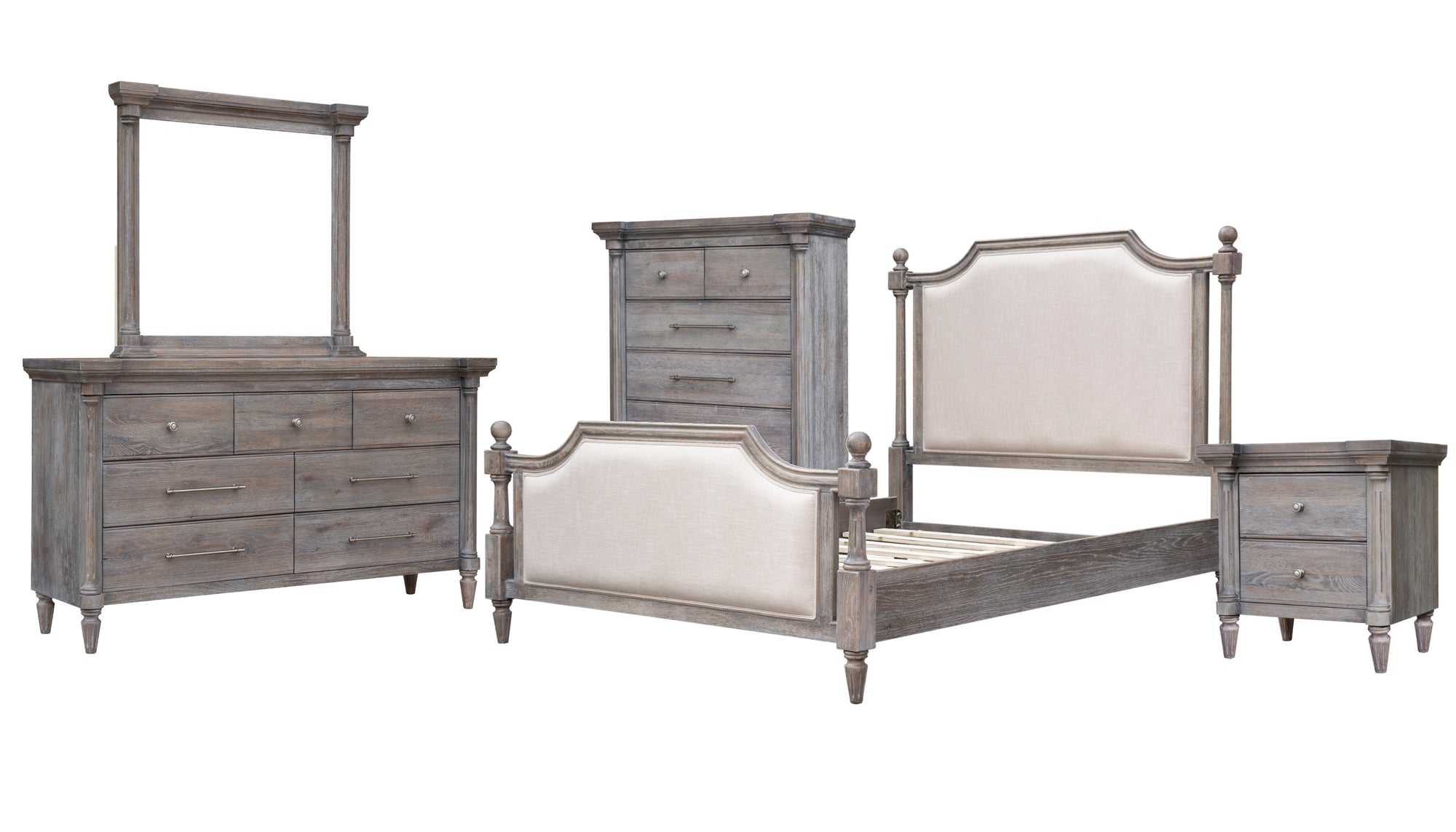 Sunset Trading Fawn Gray 5 Piece Queen Bedroom Set by Sunset Trading - HomeKingz.com - Online furniture shop with the best prices & premium customer support!