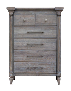 Sunset Trading Fawn Gray 6 Drawer Bedroom Chest