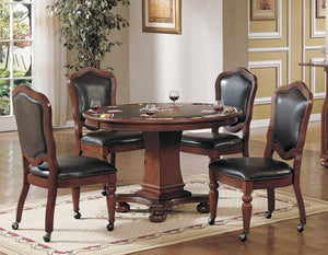 Sunset Trading 5 Piece Bellagio Dining and Poker Table Set