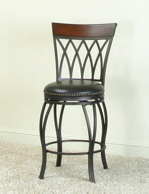 "Sunset Trading 24"" Victoria Highback Swivel Counter Stool"
