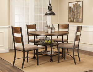 Sunset Trading 5 Piece Rustic Elm Industrial Dining Set