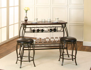 Sunset Trading Chloe Bar with Built-In Wine Rack