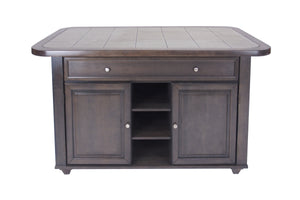 Sunset Trading 3 Piece Antique Gray Kitchen Island Set