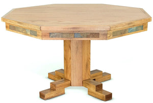 Convertible Poker & Dining Table Sedona with Pedestal Base by Sunny Designs