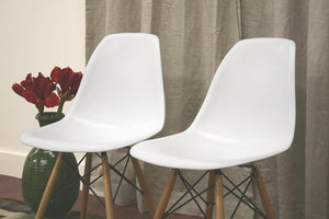 Azzo Plastic Side Chair Set of 2