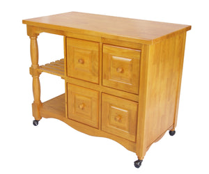 Sunset Trading Andrews Four Drawer Kitchen Cart