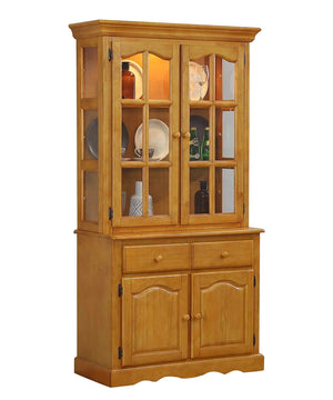 Sunset Trading Keepsake Buffet and Lighted Hutch