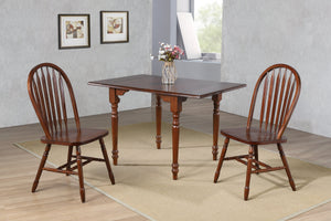 Sunset Trading 3 Piece Drop Leaf Dining Set Arrowback Chairs