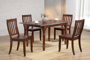 Sunset Trading Andrews 5 Piece Butterfly Leaf Dining Set with School House Chairs