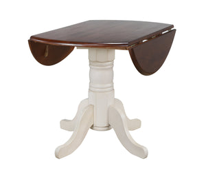 "Sunset Trading 42"" Round Drop Leaf Dining Table"
