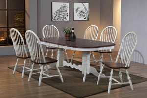 Sunset Trading Andrews 7 Piece Double Pedestal Extendable Dining Set