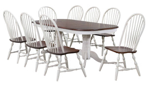 Sunset Trading Andrews 9 Piece Double Pedestal Extendable Dining Set