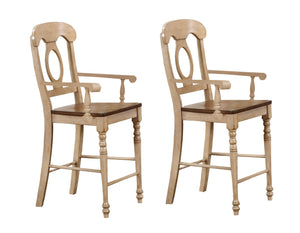Sunset Trading Brook Napoleon Barstool with Arms