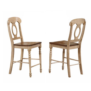 "Sunset Trading 3 Piece Brook 36"" Round Pub Table Set with Napoleon Stools"