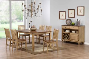 Sunset Trading 8 Piece Brook Extendable Table Dining Set with Server