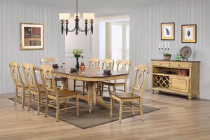 Sunset Trading 10 Piece Brook Double Pedestal Extendable Dining Set with Server by Sunset Trading - HomeKingz.com - Online furniture shop with the best prices & premium customer support!