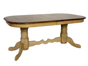 Sunset Trading Brook Double Pedestal Extendable Dining Table