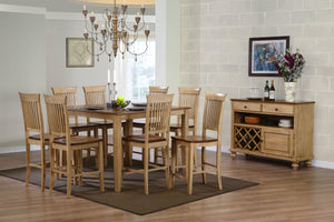 "Sunset Trading 10 Piece Brook 48"" Square Pub Set with Fancy Slat Stools and Server by Sunset Trading - HomeKingz.com - Online furniture shop with the best prices & premium customer support!"