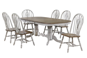 Sunset Trading Country Grove 7 Piece Double Pedestal Extendable Dining Table Set by Sunset Trading - HomeKingz.com - Online furniture shop with the best prices & premium customer support!