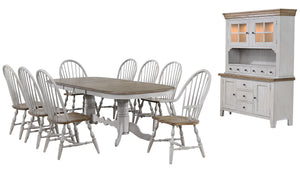 Sunset Trading Country Grove 10 Piece Double Pedestal Extendable Dining Table Set by Sunset Trading - HomeKingz.com - Online furniture shop with the best prices & premium customer support!