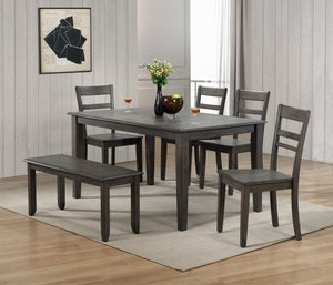 Sunset Trading Shades of Gray Slat Back Dining Chair