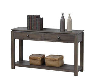 Sunset Trading Shades of Gray Sofa Console with Drawers and Shelf