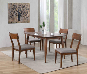 Sunset Trading Mid Century 5 Piece Dining Table Set
