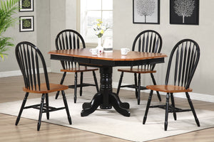 Sunset Trading Pedestal Extendable Dining Table