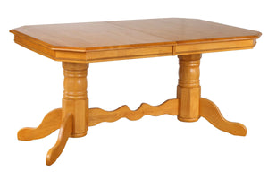 Sunset Trading Double Pedestal Trestle Dining Table