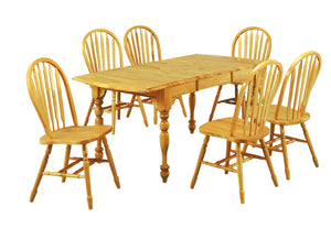 Sunset Trading 7 Piece Drop Leaf Extendable Dining Set
