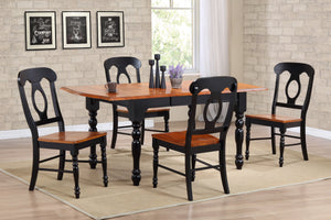 Sunset Trading 5 Piece Drop Leaf Extendable Dining Set with Napoleon Chairs