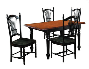 Sunset Trading 5 Piece Butterfly Dining Set with Allenridge Chairs