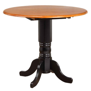 Sunset Trading Round Drop Leaf Pub Table