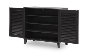 Baxton Studio Coolidge Espresso Shoe-Storage Cabinet