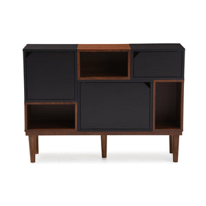 Baxton Studio Anderson Mid-century Retro Modern Oak and Espresso Wood Sideboard Storage Cabinet