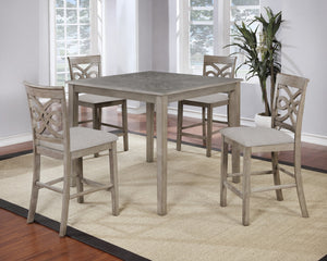 "Sunset Trading French Twist 5 Piece 42"" Square Dining Table Set"
