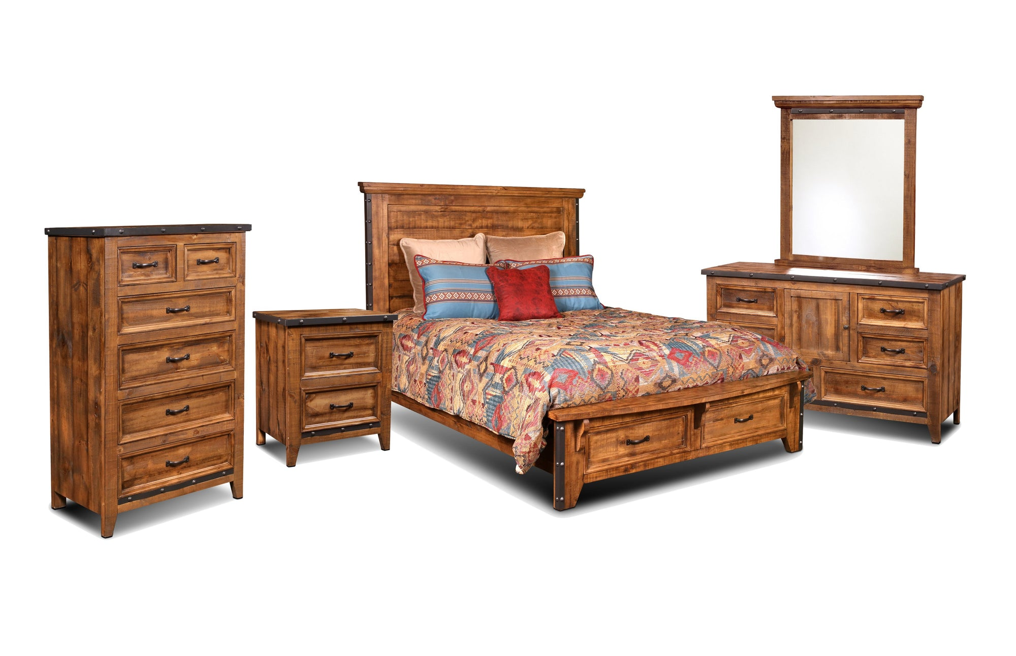 Sunset Trading Rustic City 5 Piece Queen Bedroom Set by Sunset Trading - HomeKingz.com - Online furniture shop with the best prices & premium customer support!